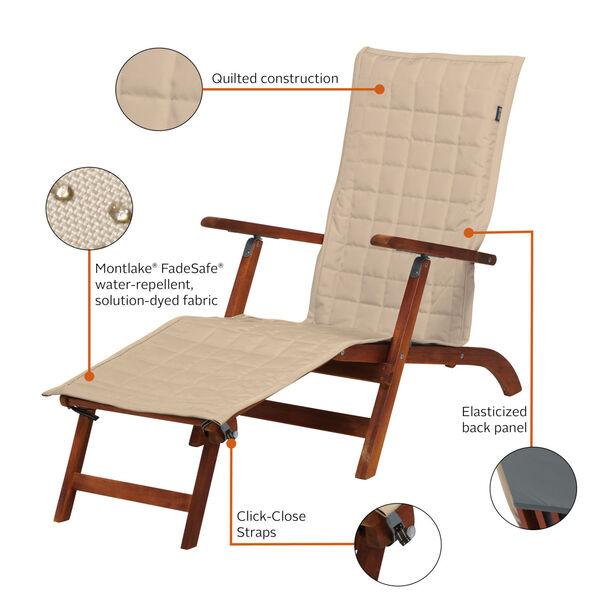 Oak Antique Beige Patio Steamer Chaise Cover, image 2