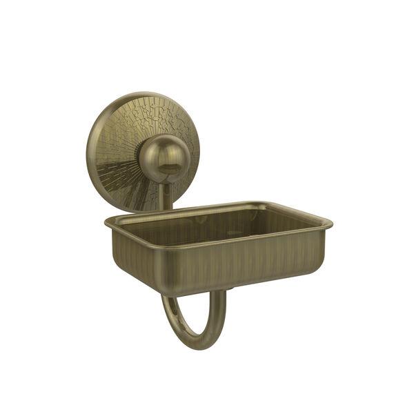 Prestige Monte Carlo Antique Brass Wall-Mounted Soap Dish, image 1