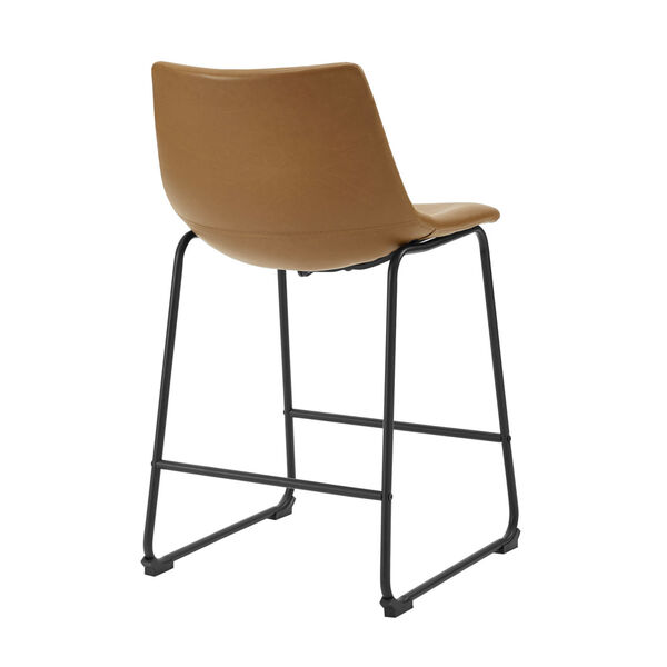 Whiskey Brown Counter Stool, set of 2, image 4