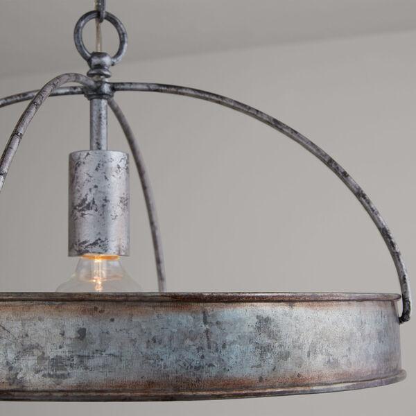 Alvin Antique Galvanized Metal Ring One-Light Pendant, image 5