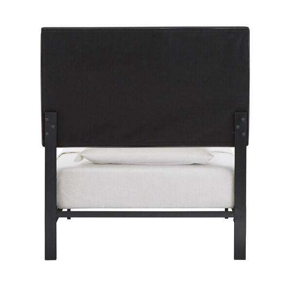 Lydia Gray and Black Twin Velvet Platform Bed, image 5