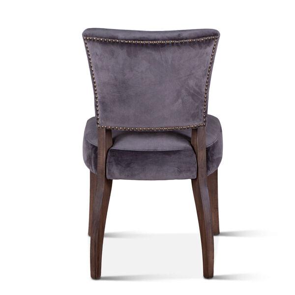 Portia Asphalt Gray and Weathered Teak Velvet Side Chair, Set of 2, image 5