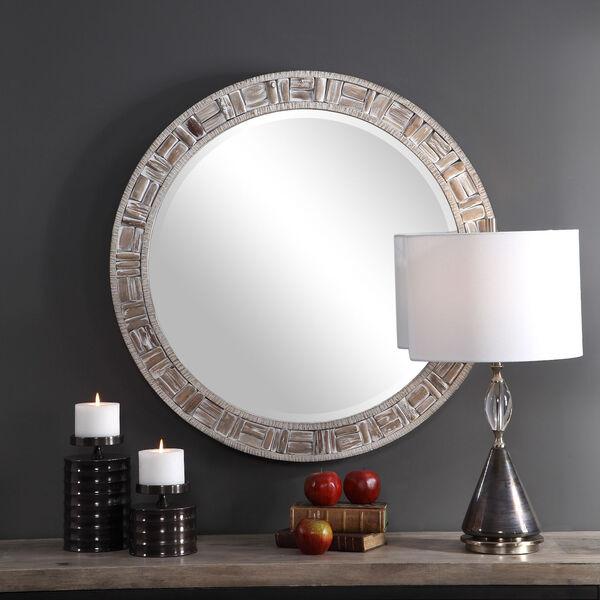 Del Mar Solid Wood Round Mirror, image 3