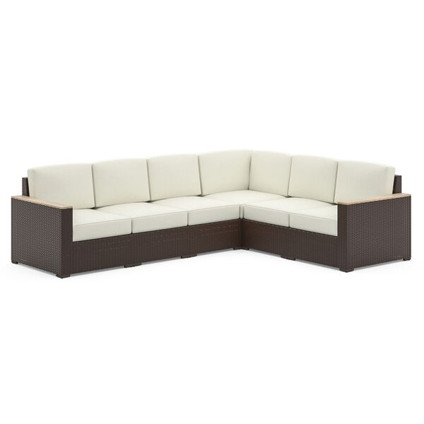 Palm Springs Brown Patio Six-Seat Sectional, image 1