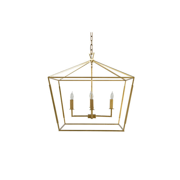 Adler Vintage Gold and Antique Bronze Four-Light Pendant, image 1