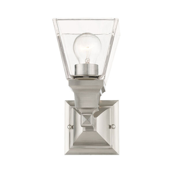 Mission Brushed Nickel One-Light Wall Sconce, image 6