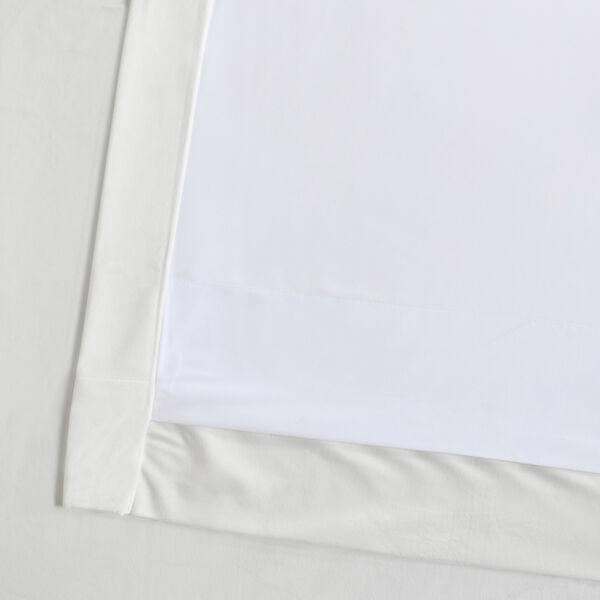 White 108 x 50 In. Plush Velvet Curtain Single Panel, image 11