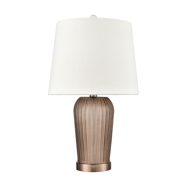 Prosper Autumnal and Coffee Plated One-Light Table Lamp, image 2