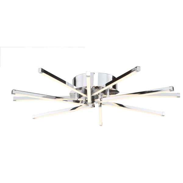 Shooting Star Chrome 10-Light LED Flush Mount, image 1