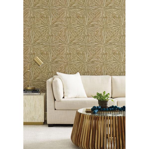 Antonina Vella Elegant Earth Gold Squareburst Geometric Wallpaper, image 4