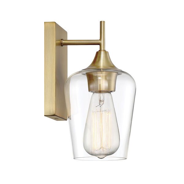 Selby Warm Brass One-Light Wall Sconce, image 2