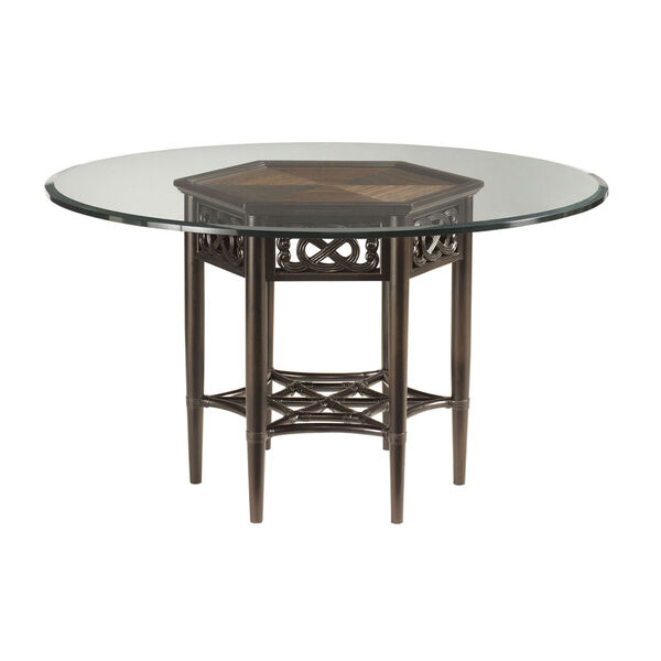 Royal Kahala Gold Sugar And Lace Dining Table with 60 In. Glass Top, image 1