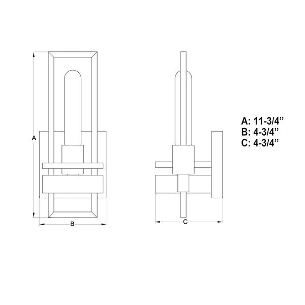 Marquis Matte Black One-Light Wall Sconce, image 6