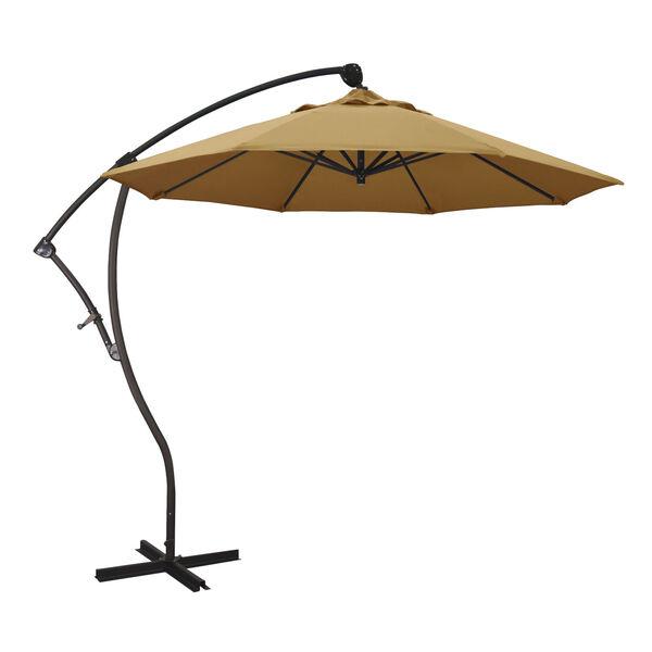 Bayside Bronze with Wheat Nine-Feet Sunbrella Patio Umbrella, image 1