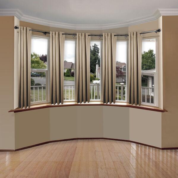 Christiano Black Five-Sided Bay Window Curtain Rod, image 2