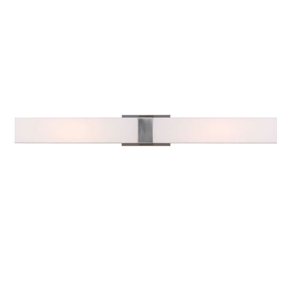 Vandeventer Brushed Nickel LED 36-Inch Wide Bath Vanity with Rectangular White Acrylic Diffuser, image 1