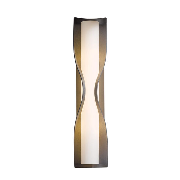 Dune Burnished Steel Four-Light 5-Inch Wall Sconce with Opal Glass, image 1