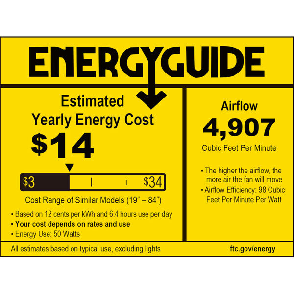 Edgewood Black 60-Inch Indoor Outdoor Ceiling Fan, image 2