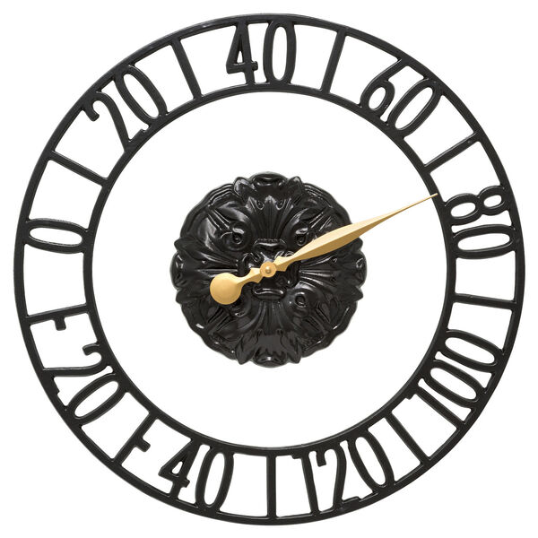 Cambridge Black Indoor Outdoor Wall Thermometer, image 1