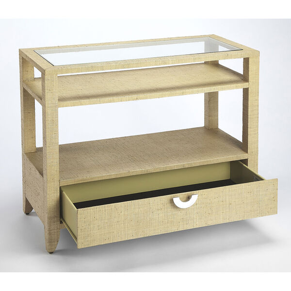 Loft Amelle Cream Raffia Console Table, image 2