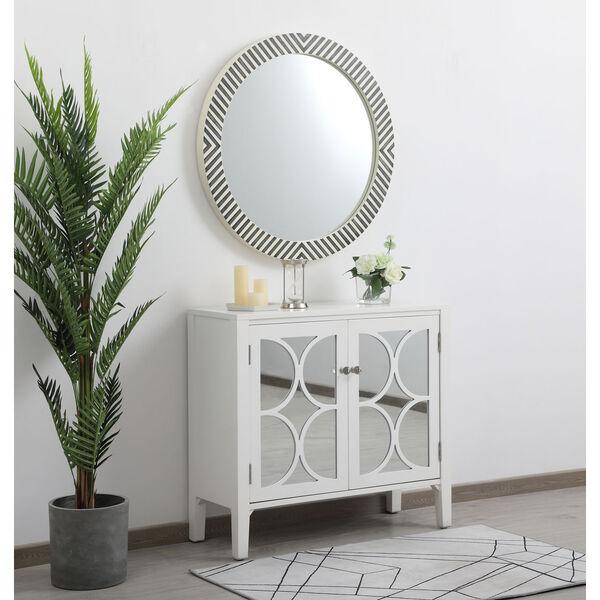 Colette Chevron 32-Inch Round Mirror, image 4