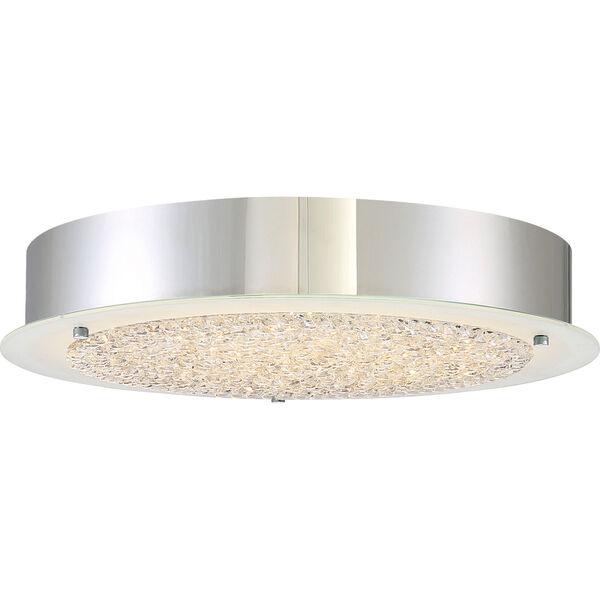 Platinum Collection Blaze 16-Inch Polished Chrome LED Flush Mount, image 1
