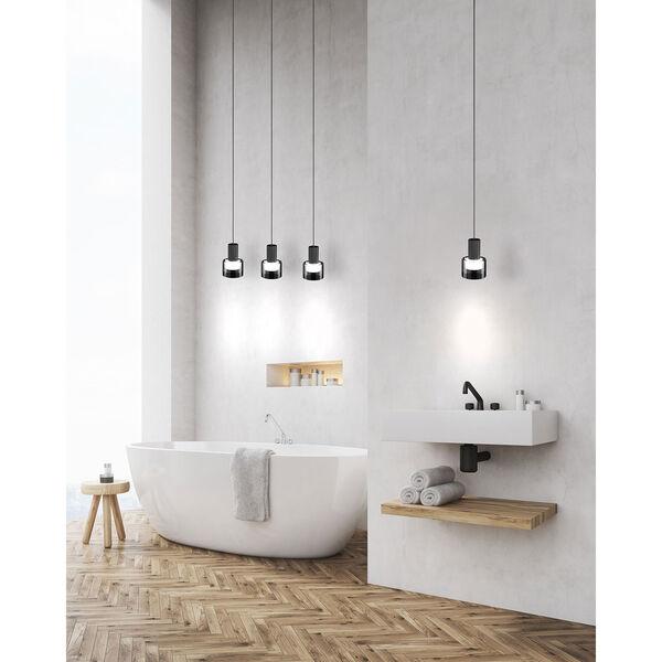 Molineros Black and White Three-Light LED Pendant, image 2