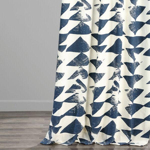 Triad Indigo 84 x 50 In. Printed Cotton Twill Curtain Single Panel, image 5
