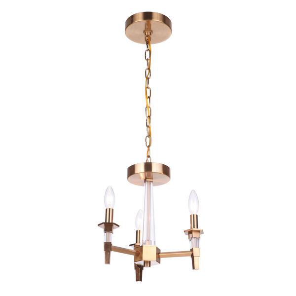 Tarryn Satin Brass Three-Light Convertible Semi Flush, image 2
