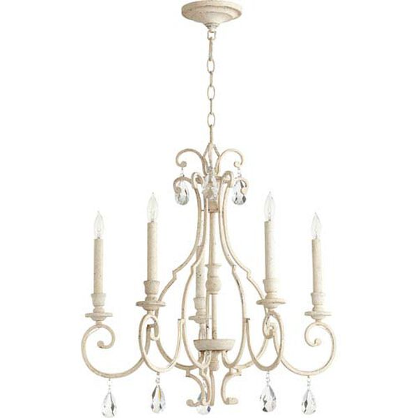 Acacia White Five-Light Chandelier, image 1