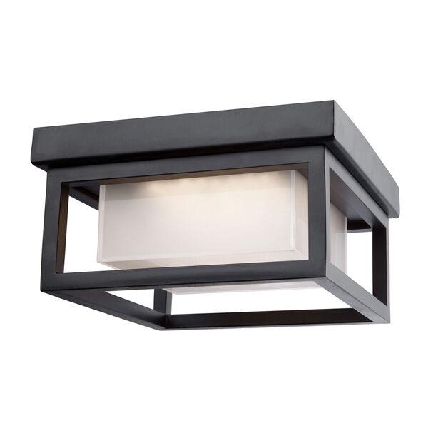Overbrook Black One-Light LED Outdoor Flush Mount, image 1