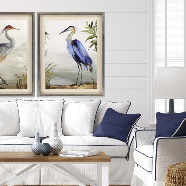 Blue 44 H x 35 W-Inch Blue Heron Wall Art, image 1