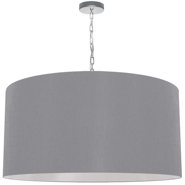 Braxton Polished Chrome and Gray One-Light XL Pendant, image 1