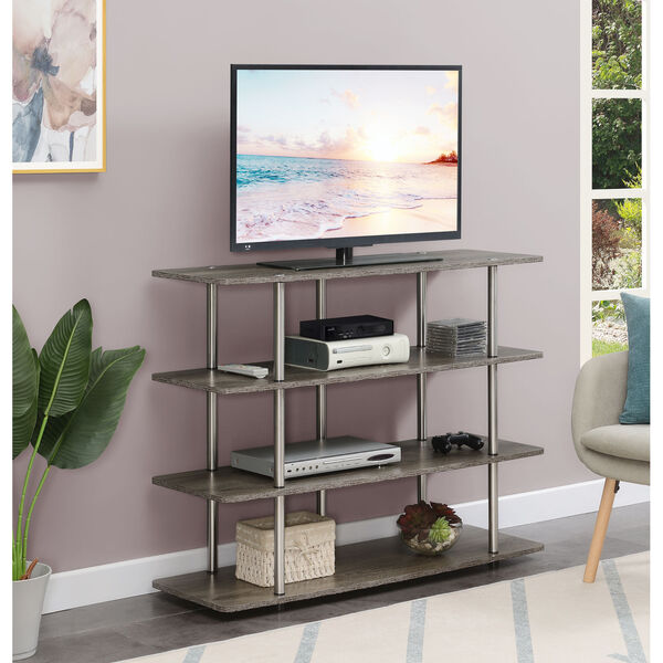 Designs2Go Weathered Gray Highboy Four-Tier TV Stand, image 2