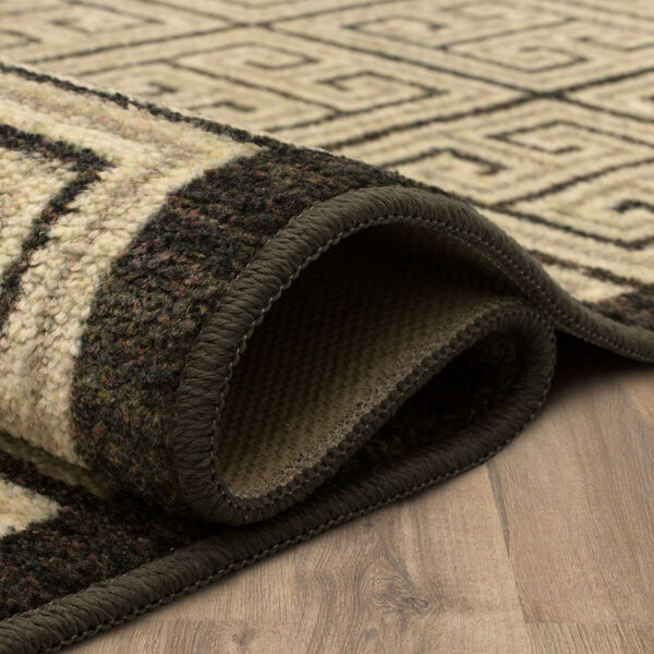 Meander Gray Charcoal Geometric Rectangular: 3 Ft. x 5 Ft. Area Rug, image 5