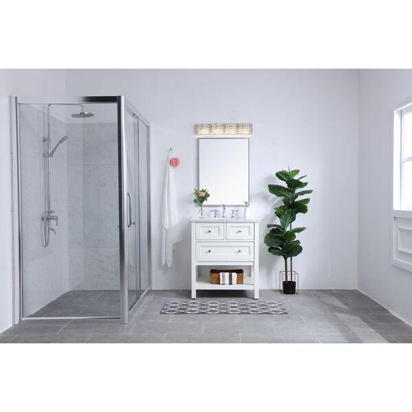 Ollie Chrome Four-Light Bath Vanity with Clear Crystals, image 2