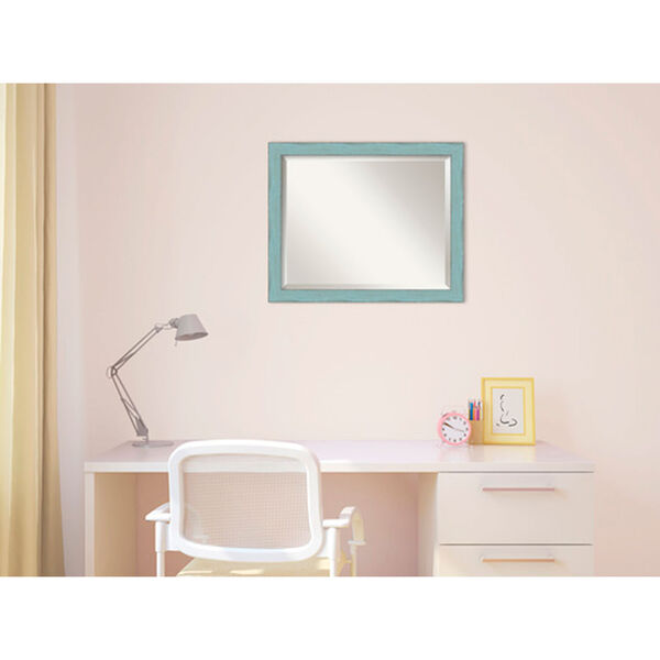 Sky Blue Medium Rustic Wall Mirror, image 4