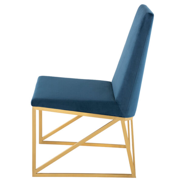 Caprice Peacock and Gold Dining Chair, image 3