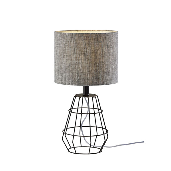 Victor Black One-Light Table Lamp, image 1