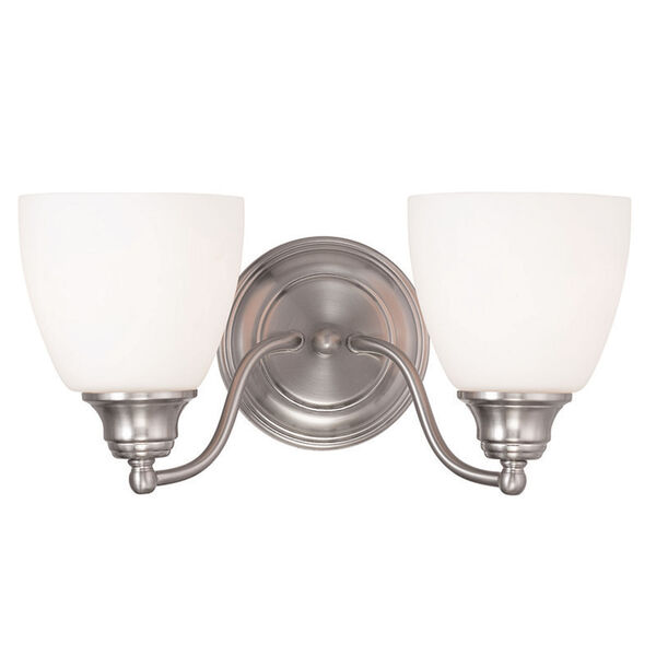 Somerville Brushed Nickel 15.5-Inch Two-Light Bath Light, image 1