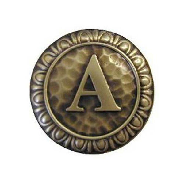 Antique Brass 'A' Knob , image 1