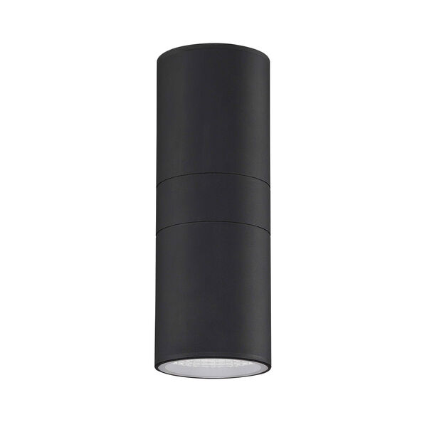 Textured Matte Black LED Outdoor Wall Sconce, image 4