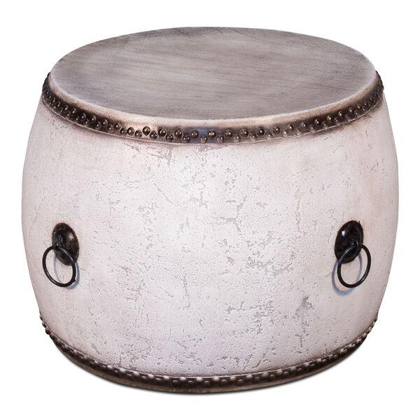 White  Drum Table, image 1