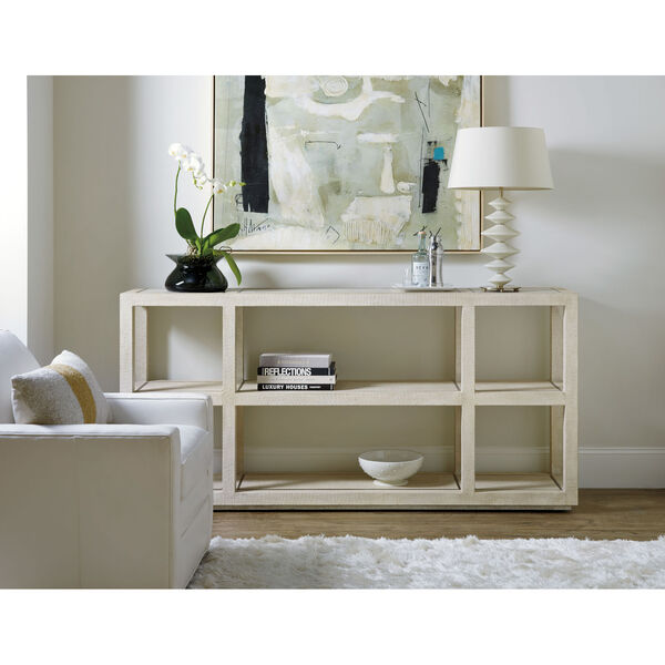 Cascade Lacquered Burlap Console Table, image 5