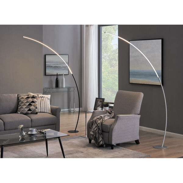 Monita Silver LED Arc Floor Lamp, image 4