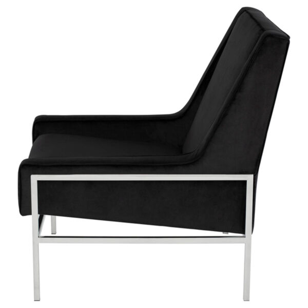 Theodore Black and Silver Occasional Chair, image 3