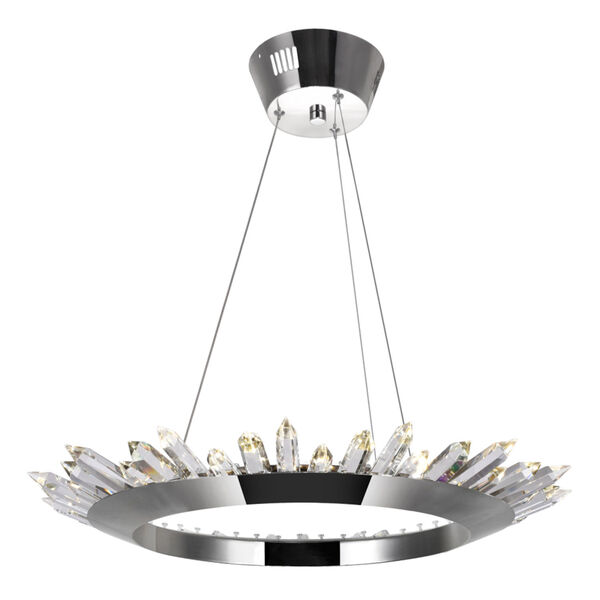 Arctic Queen Polished Nickel 24-Inch LED Chandelier, image 1