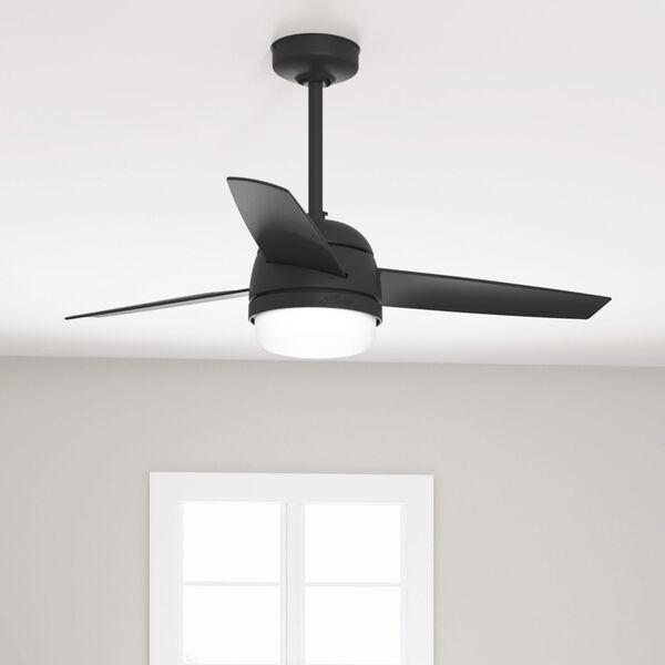 Midtown Matte Black 48-Inch Two-Light LED Ceiling Fan, image 5