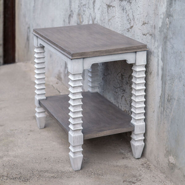 Calypso Gray and White Side Table, image 3