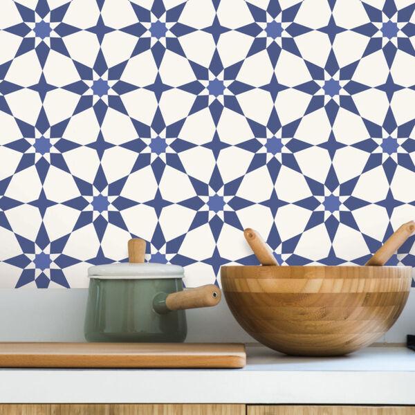 Soleil Blue Santorini Peel and Stick Wallpaper, image 3